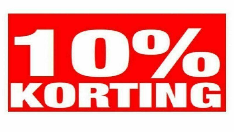 Standaard 10% korting