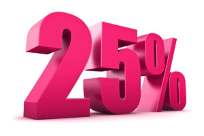 25% Lastminute