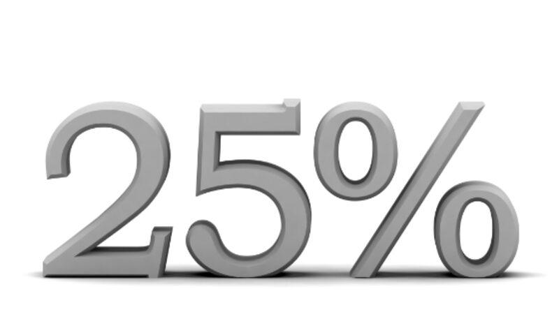 25 % korting lastminute
