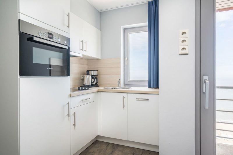 4p Appartement aan de Belgische kust met zeezicht vanaf  balkon