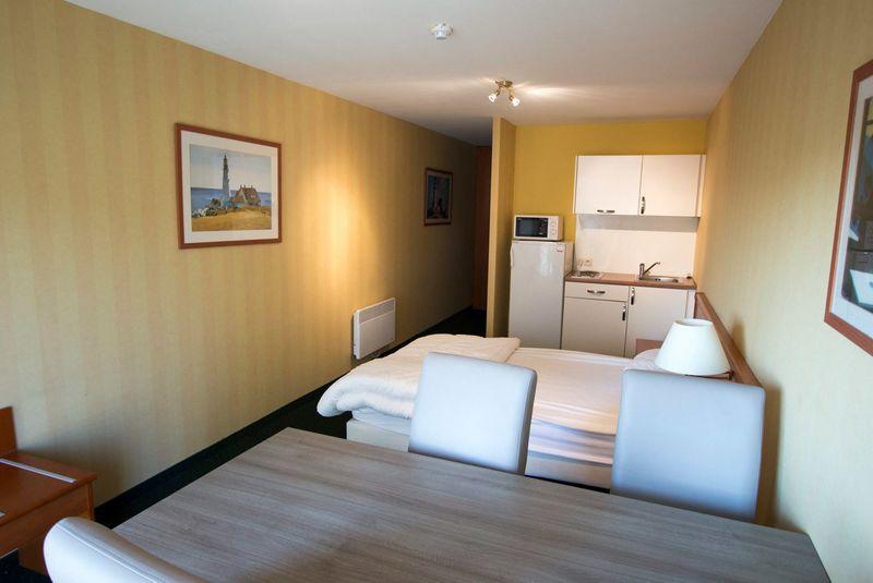 4p Vakantie suite aan de Belgische kust met zeezicht vanaf het balkon