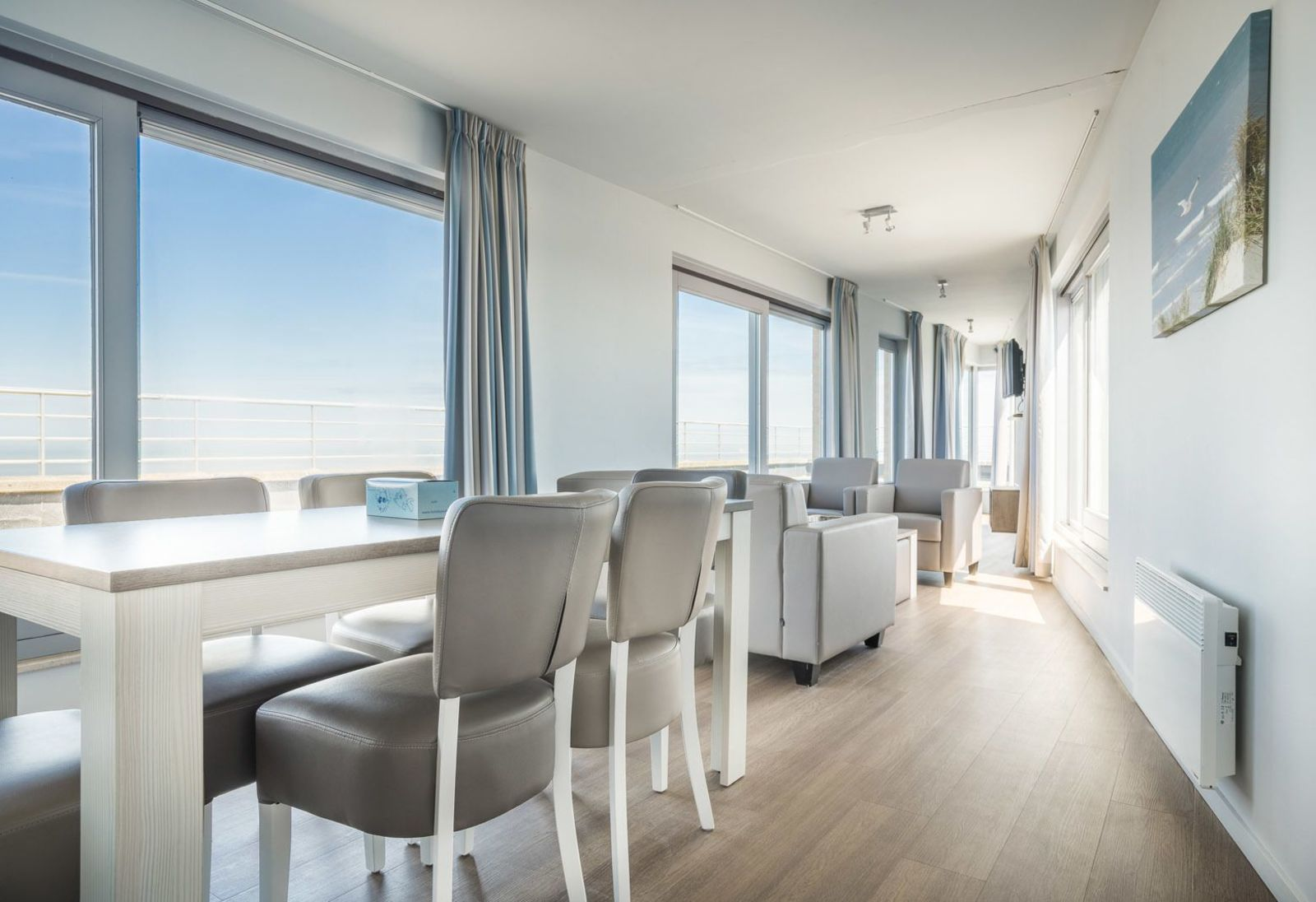 Penthouse voor 4 personen met zeezicht
