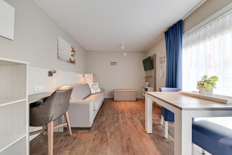2p Studio met slaapbank in De Haan aan de Belgische kust