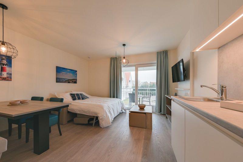 5p (2 volw 3 kind) Nieuw vakantieverblijf met slaapbank in Nieuwpoort België