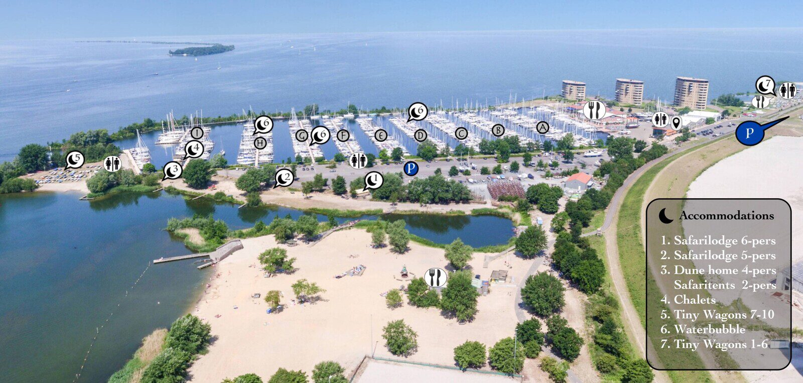 Water Bubble dans la Marina Muiderzand à Almere