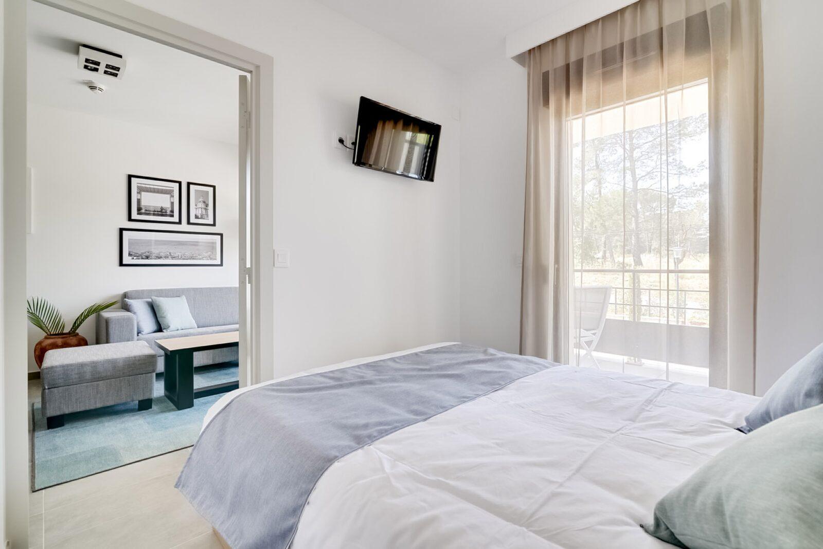 Nieuwe standaard suite voor 4 personen met tweepersoonsbed en stapelbed
