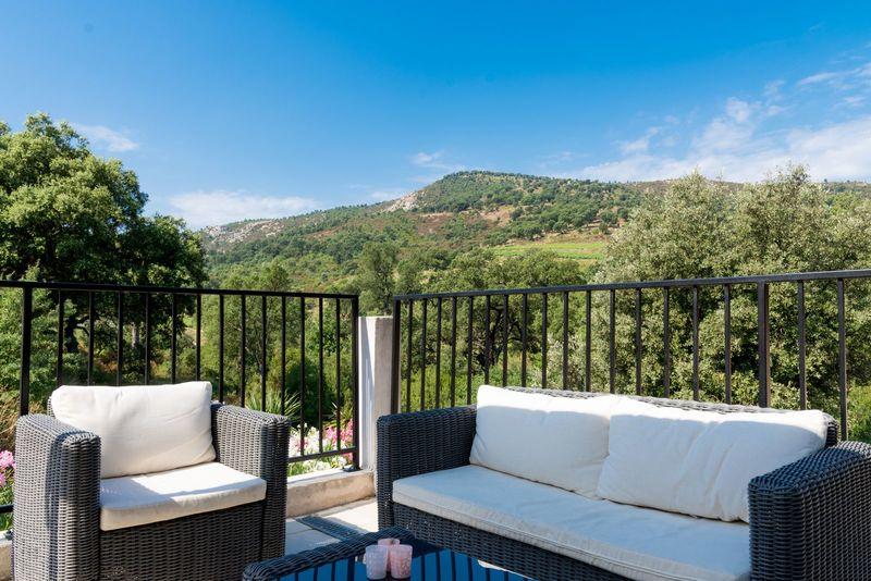 Vakantie appartement (4p) met uitzicht op het heuvelachtige landschap (Hameau des Claudins, Le Vernet Nr3)