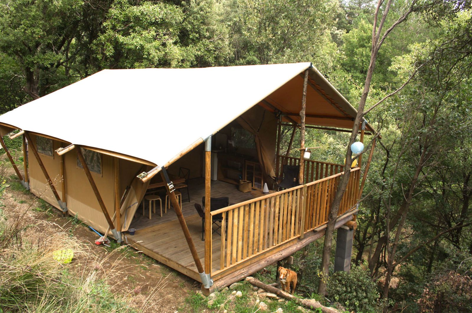 Afbeelding van Cevenolse Mas Safaritent - kampeervakantie in Franse natuur