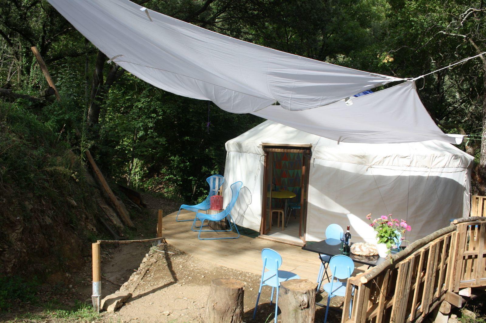 Cevenolse Mas Yurt - natuurvakantie in Frankrijk