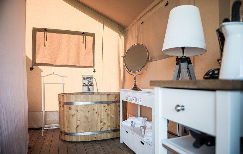 Afbeelding van Twentse Buitenleven - Twin Lodgetent - romantisch kamperen op de boerderij