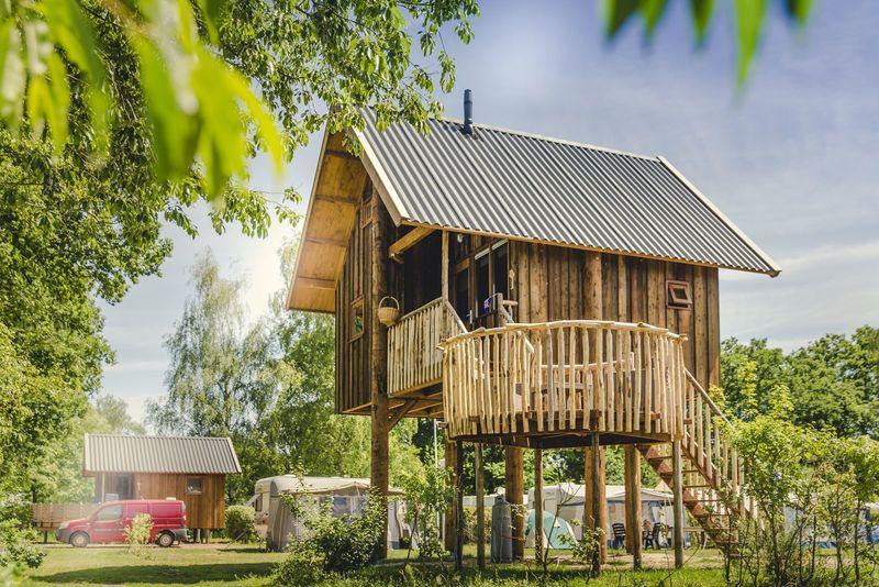 5p Boomhut aan de Regge op vakantiepark Molke