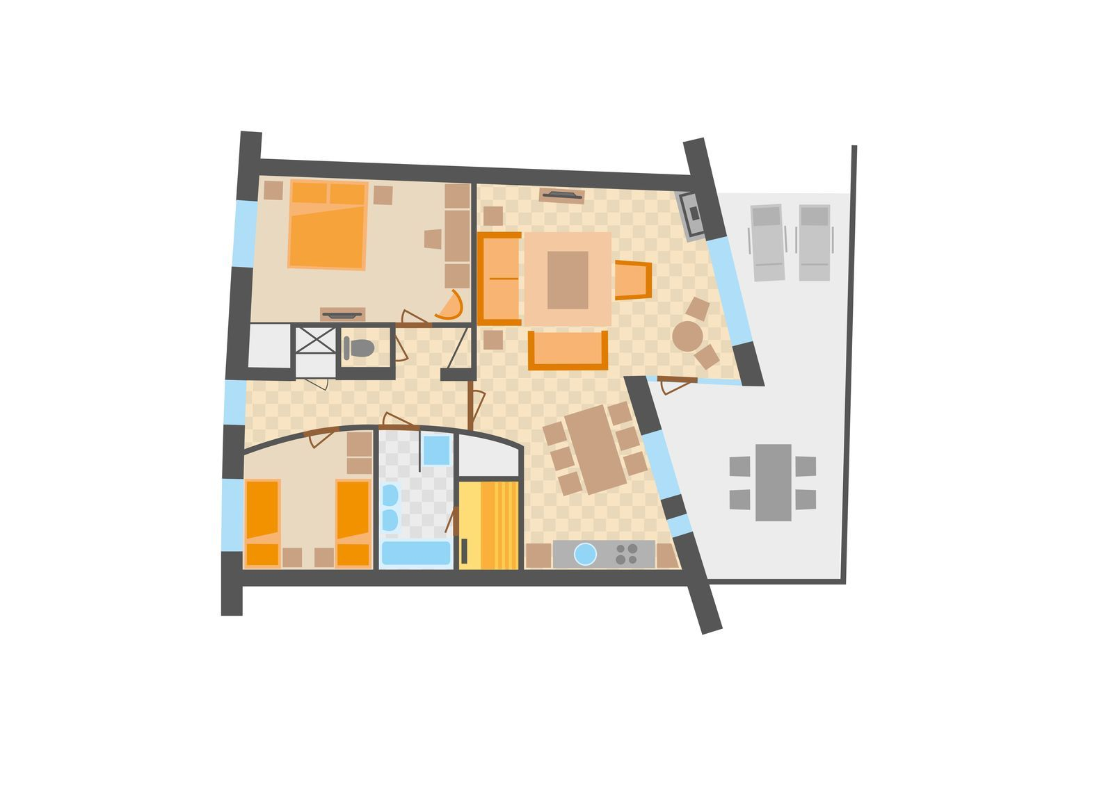 Appartement type 6SL