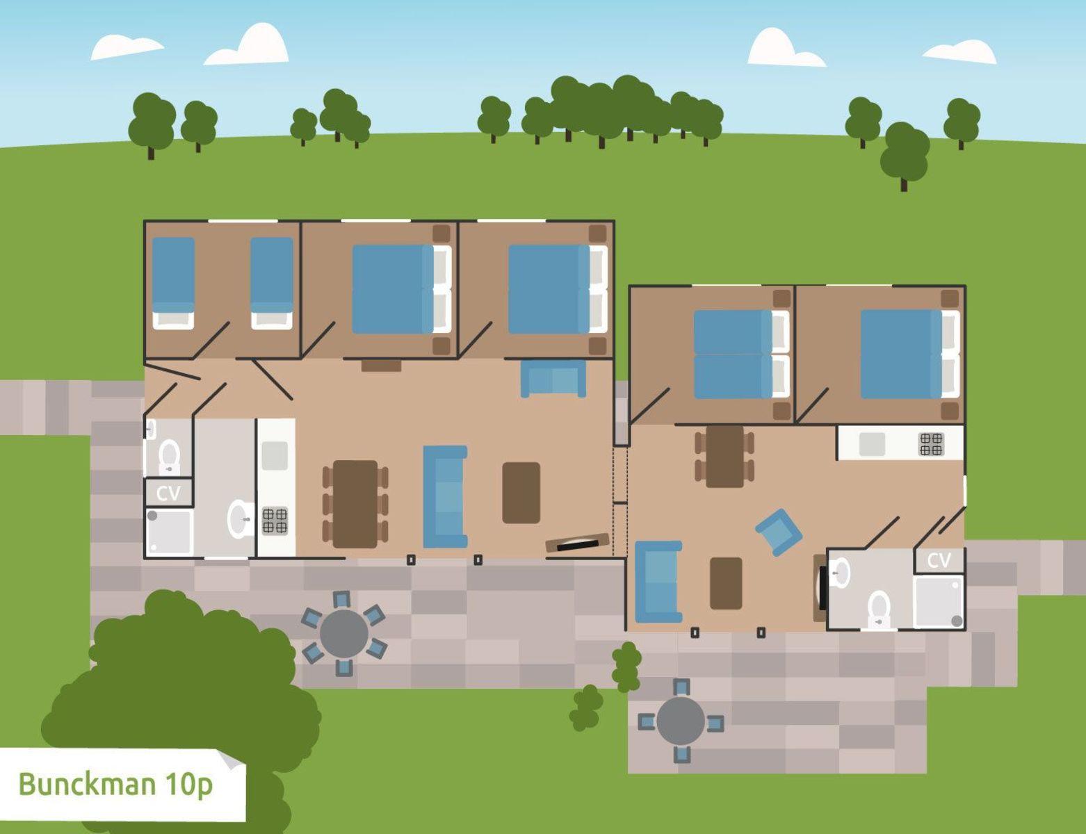 Bunckman 10-persoons bungalow
