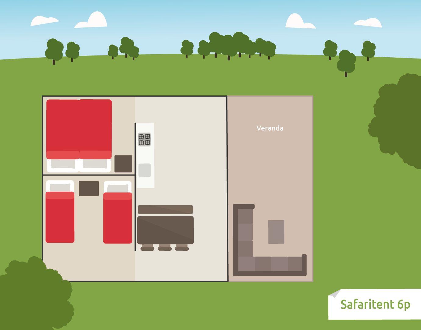 Afbeelding van Safaritent 6 persoons