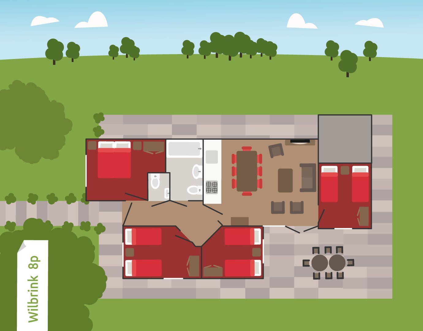 Afbeelding van Wilbrink 6- tot 8-persoons bungalow