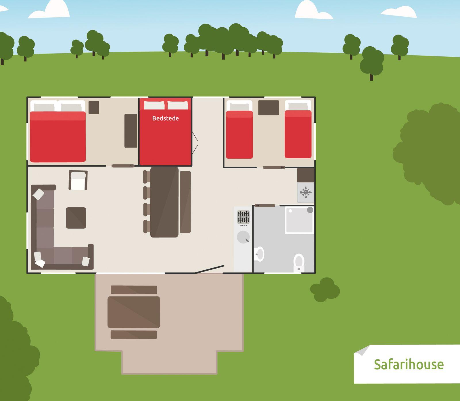 Afbeelding van 8-persoons Safarihouse