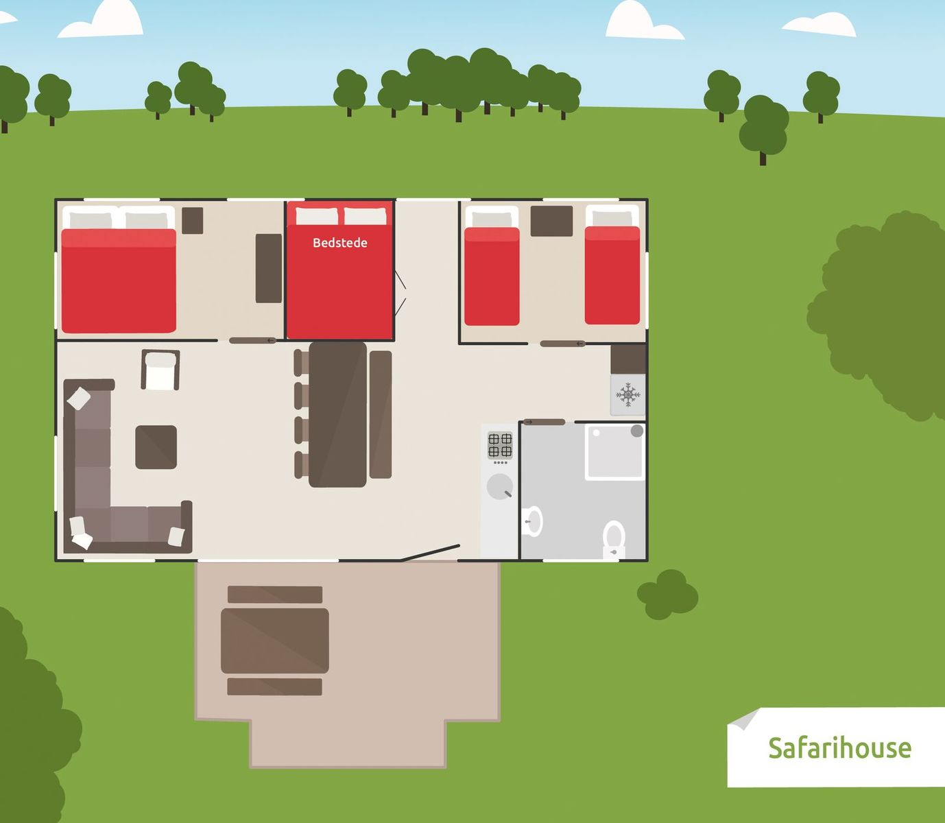 8 person Safari House