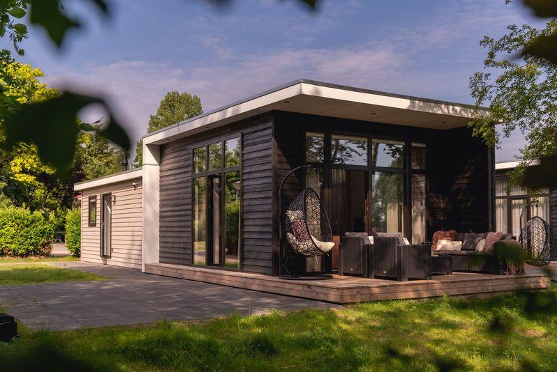 6p Bungalette exclusive aan het water op vakantiepark Molke in Twente