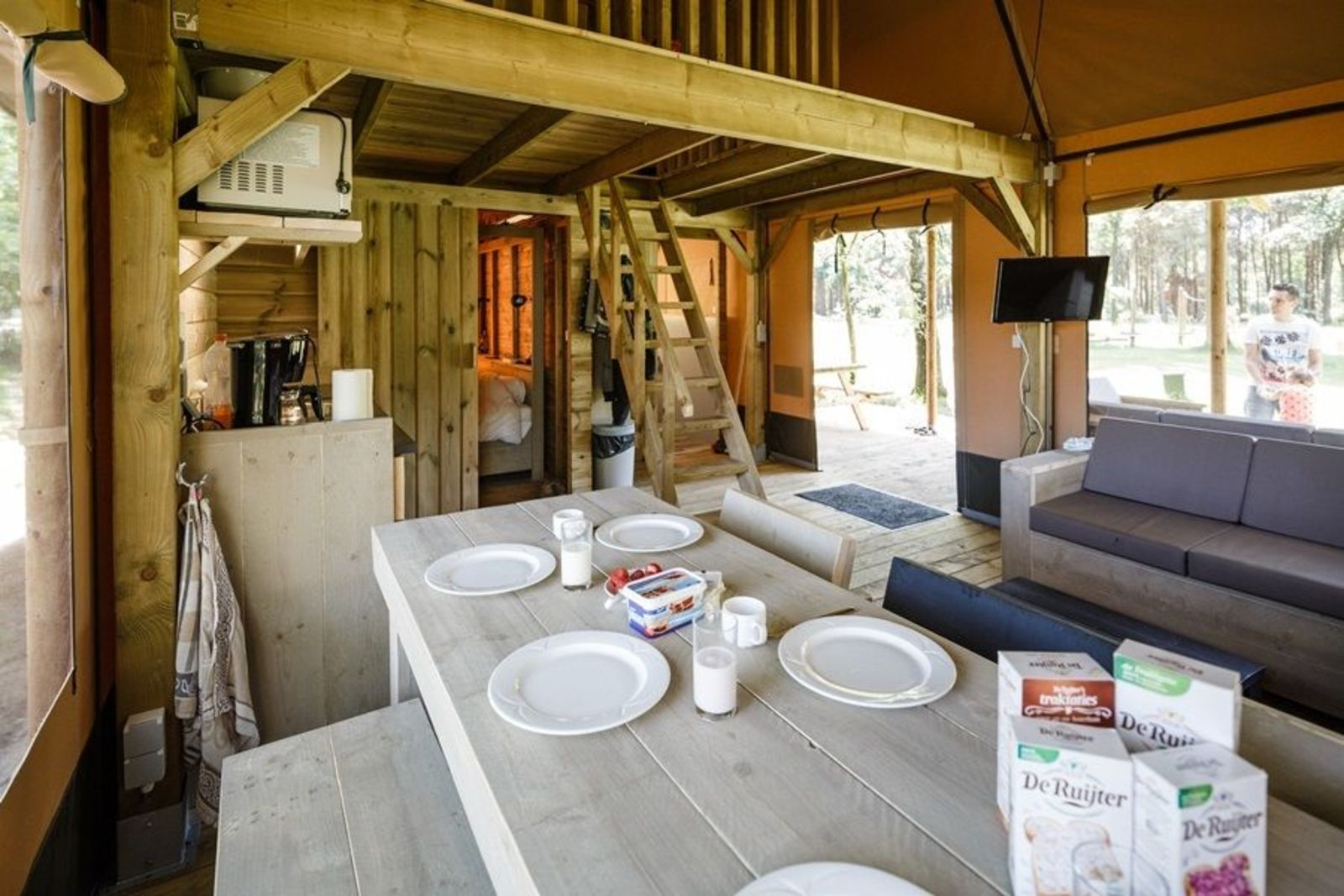 Glamping lodgetent