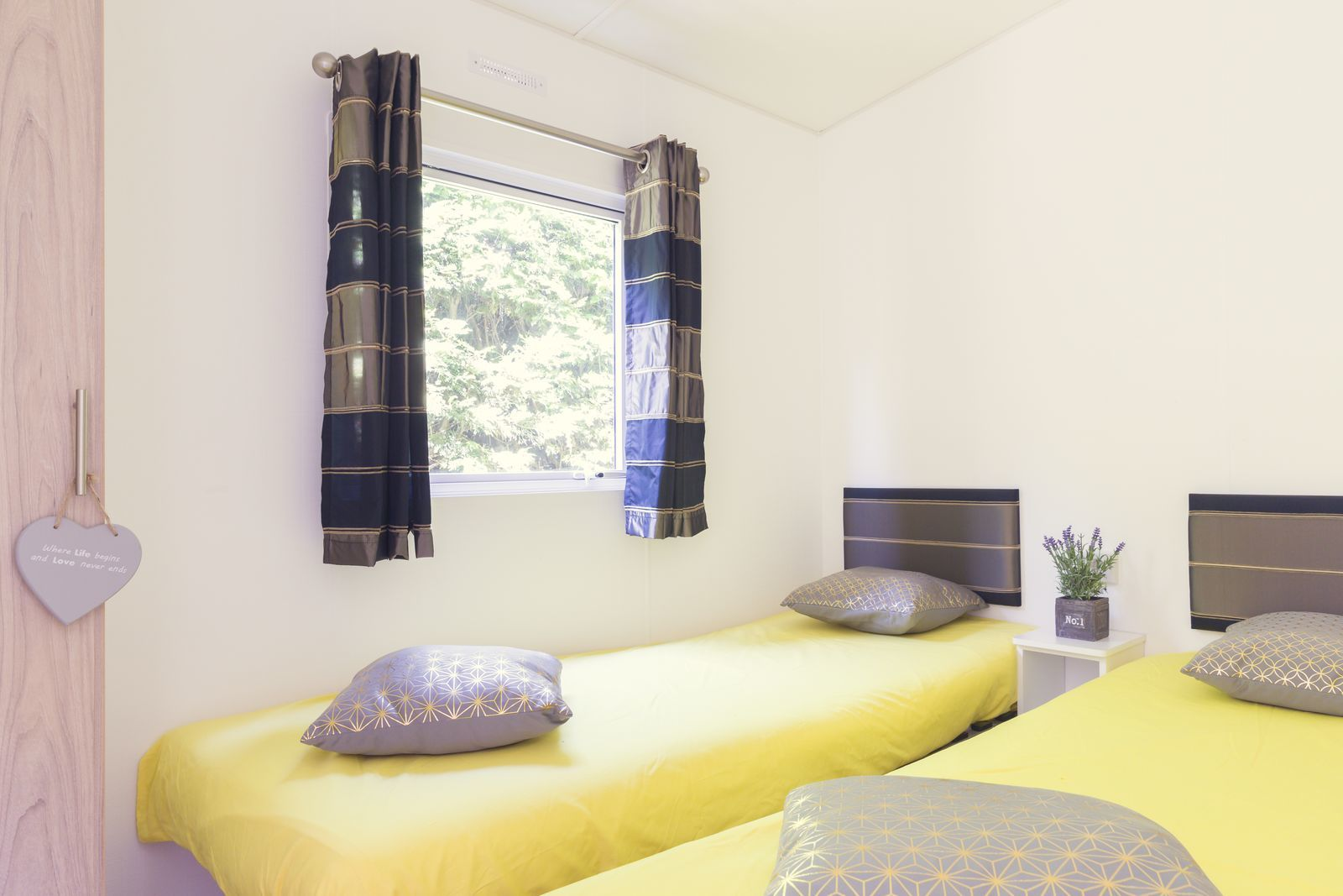 Bungalette 6 personen basis | 3 slaapkamers