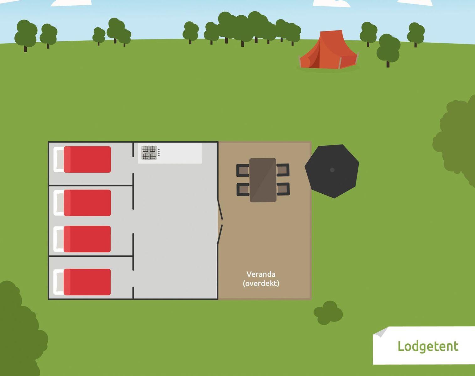 4-persoons Lodgetent eenoudergezin