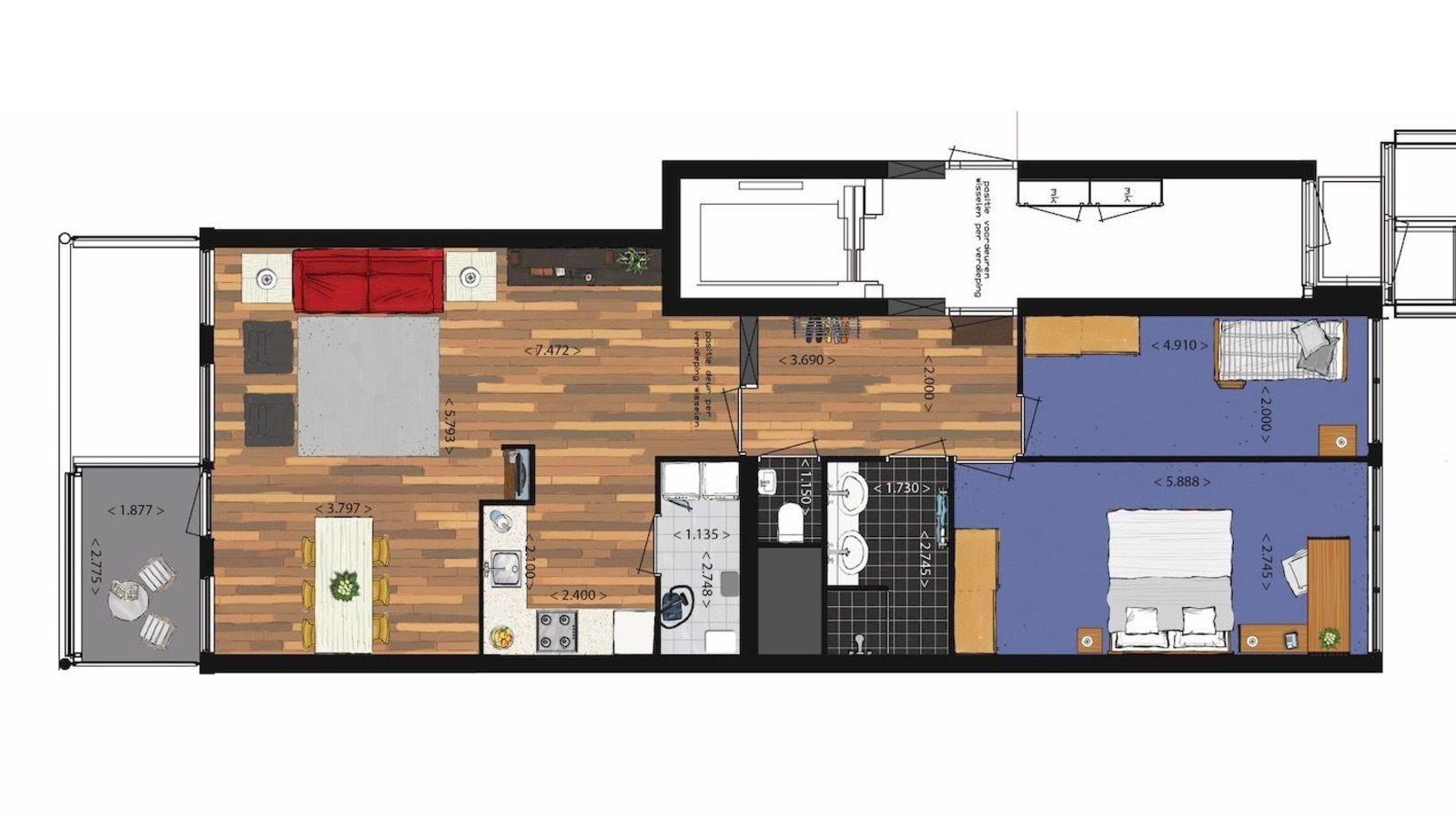 3-Zimmer Mitte Appartement mit Meerblick