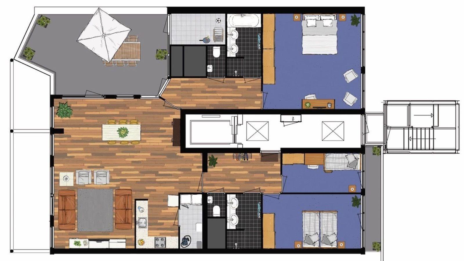 Penthouse 748 mit Meerblick