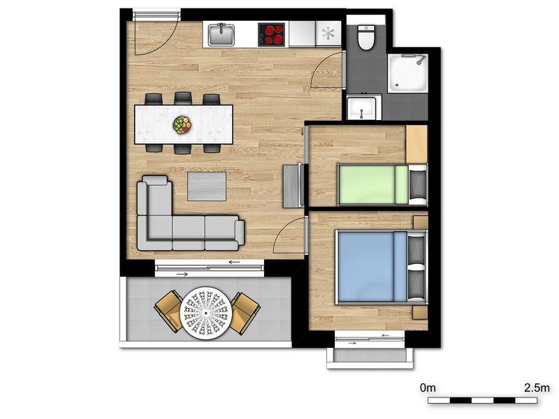 5p (2 volw 3 kind) Nieuw vakantieverblijf met slaapkamer in Nieuwpoort België