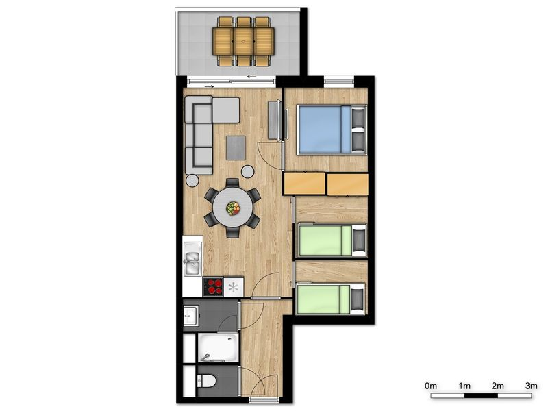 6p Nieuwe familie suite met 2 stapelbedden in Vence