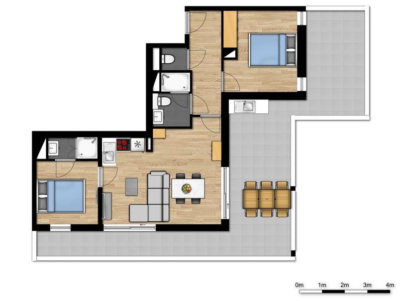 4p Nieuwe premium suite met 2 dubbele bedden in Vence, Cote d'Azur