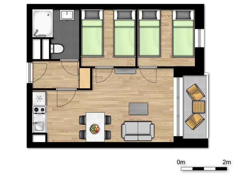 4p Familie suite in Boulogne-sur-Mer