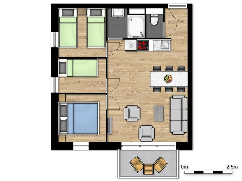 6p Deluxe suite in Boulogne-Sur-Mer